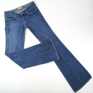 Paige Bootcut Medium Wash Low Rise Womens Jeans